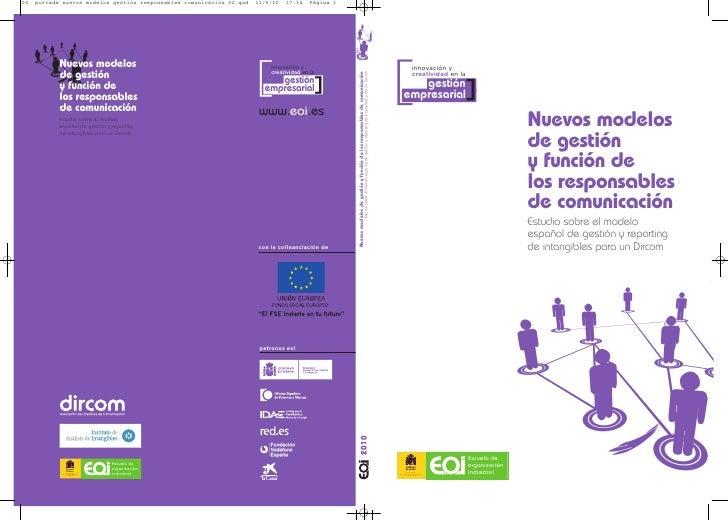 Nuevos modelos de gestión y función de los responsables de comunicaciónn