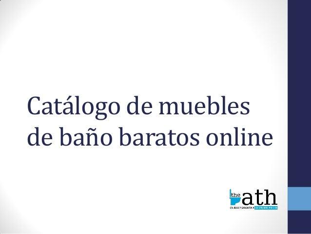 catlogo de muebles de bao baratos online