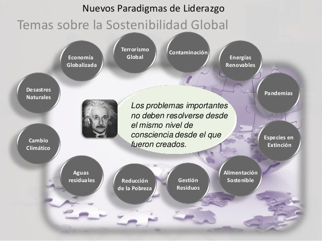 Nuevos Paradigmas de Liderazgo Temas sobre la Sostenibilidad Global Cambio Climático Economía Globalizada Terrorismo Globa...