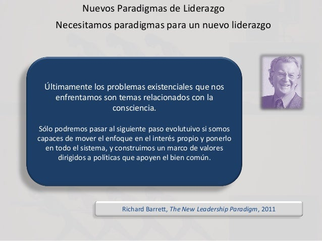 Nuevos Paradigmas de Liderazgo Necesitamos paradigmas para un nuevo liderazgo Últimamente los problemas existenciales que ...