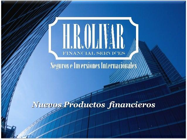 Nuevos Productos financieros