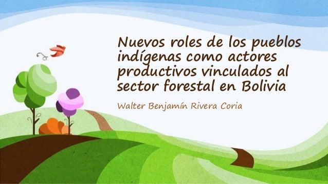 Nuevos roles de los pueblosindígenas como actoresproductivos vinculados alsector forestal en BoliviaWalter Benjamín Rivera...