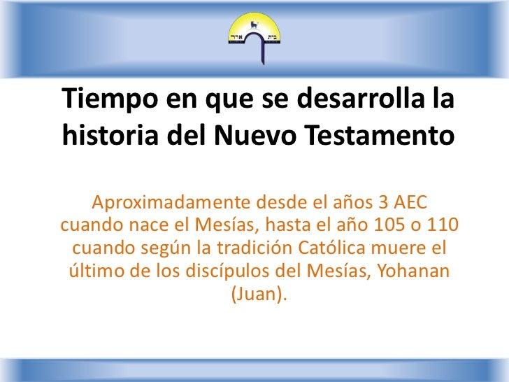 Nuevo Testamento - Lección 2 Slide 2