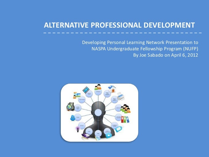 ALTERNATIVE PROFESSIONAL DEVELOPMENT         Developing Personal Learning Network Presentation to             NASPA Underg...