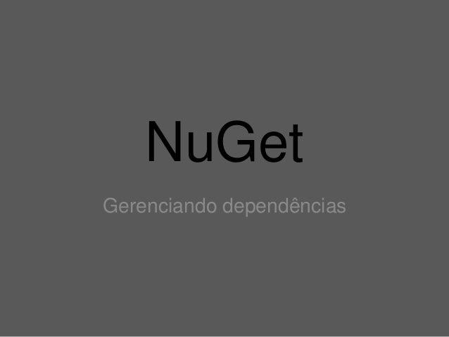NuGet Gerenciando dependências