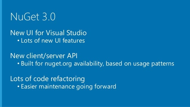 NuGet 3.0 - Transitioning from OData to JSON-LD Slide 2