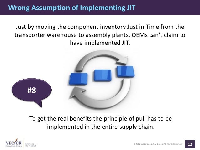 Wrong Assumption of Implementing JIT  Just by moving the component inventory Just in Time from the transporter warehouse t...