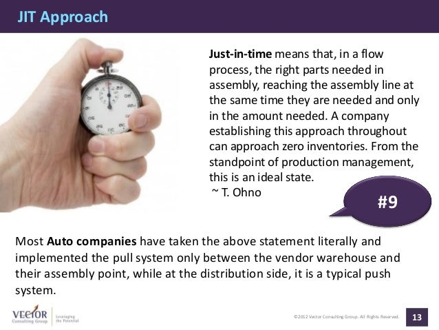 JIT Approach                                     Just-in-time means that, in a flow                                     pr...