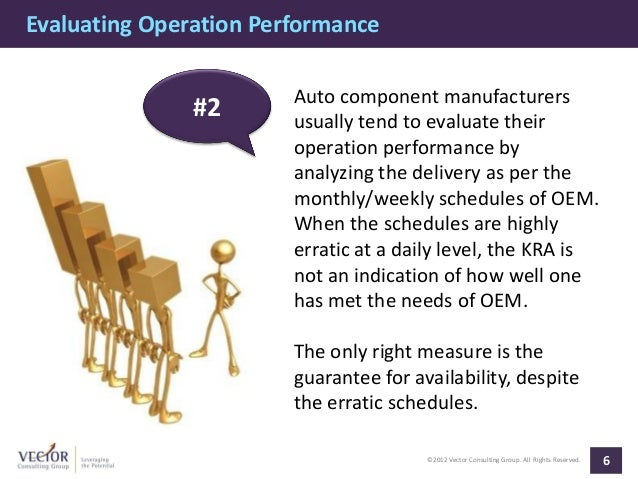 Evaluating Operation Performance                        Auto component manufacturers               #2       usually tend t...