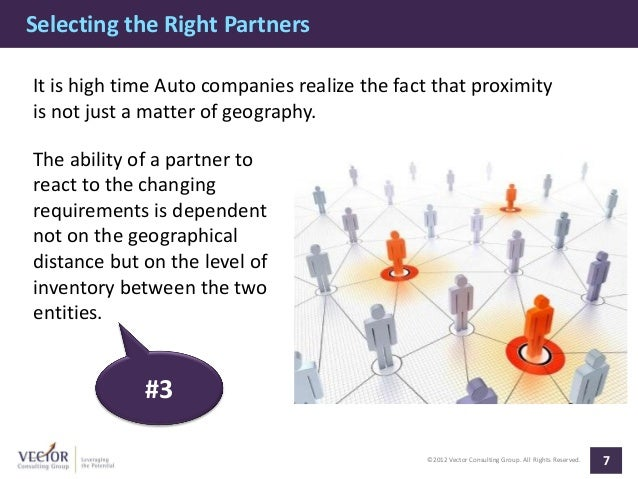Selecting the Right PartnersIt is high time Auto companies realize the fact that proximityis not just a matter of geograph...