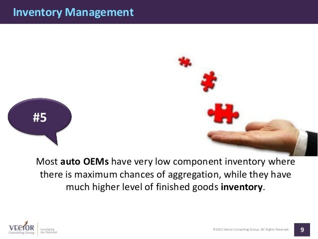 Inventory Management   #5   Most auto OEMs have very low component inventory where   there is maximum chances of aggregati...