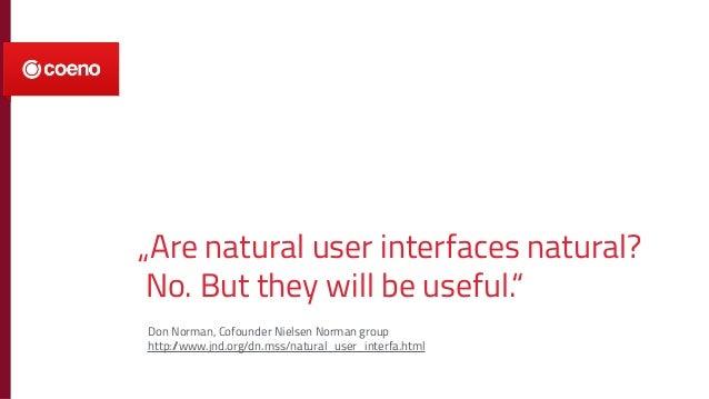 NUI - Natural User Interfaces: nur ein Hype oder die nächste Stufe der Interaktion mit Maschinen? Slide 2