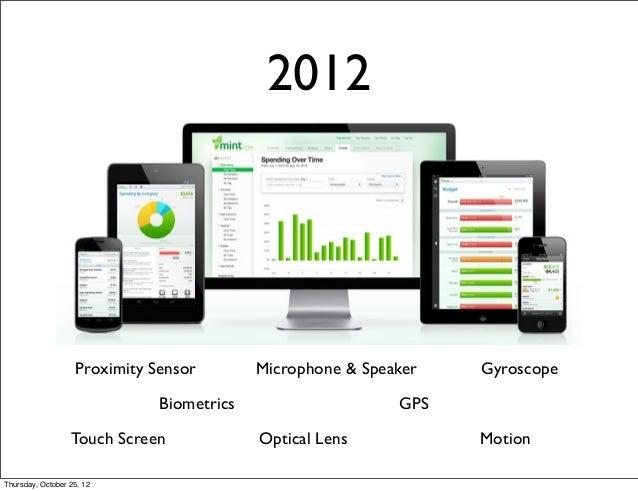 2012 Motion Gyroscope GPS Proximity Sensor Optical LensTouch Screen Microphone & Speaker Biometrics Thursday, October 25, ...