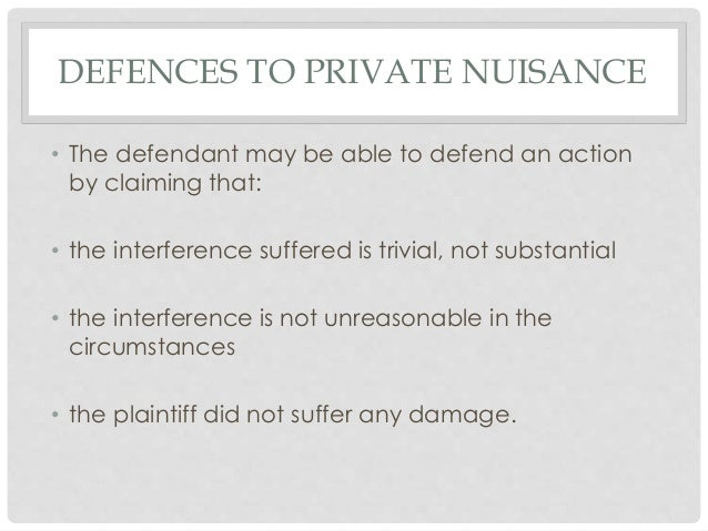 what is private nuisance