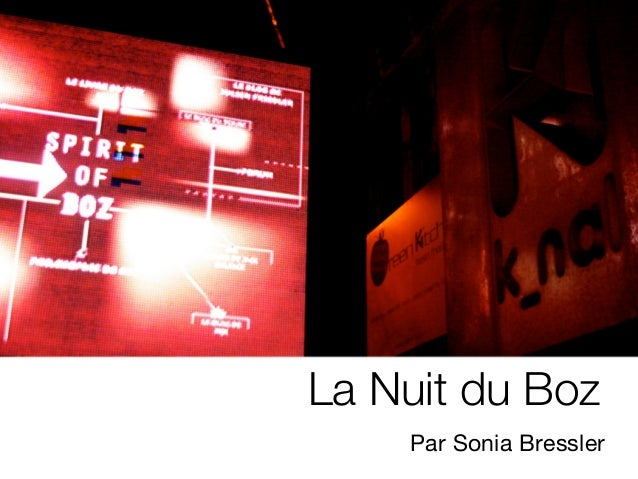 La Nuit du Boz    Par Sonia Bressler