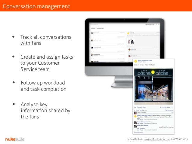 Conversation management  • Track all conversations  with fans  • Create and assign tasks  to your Customer  Service team  ...