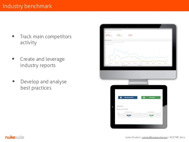 Industry benchmark  • Track main competitors  activity  • Create and leverage  industry reports  • Develop and analyse  be...