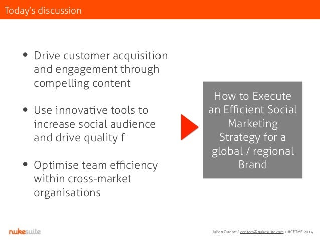 Today's discussion  • Drive customer acquisition  and engagement through  compelling content  !  • Use innovative tools to...