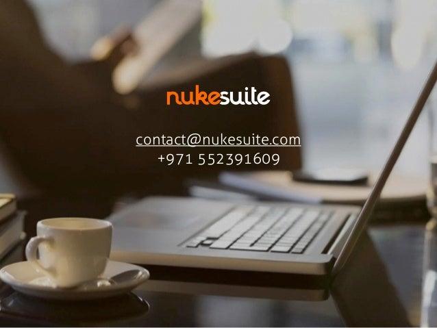 contact@nukesuite.com  +971 552391609