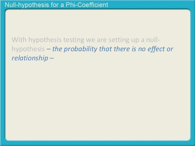 Null Hypothesis For A Chi Square Test Of Independence
