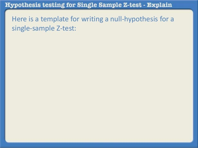 Single test mann