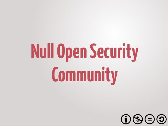 NullOpenSecurity Community