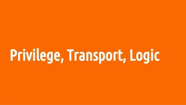 68 Privilege, Transport, Logic