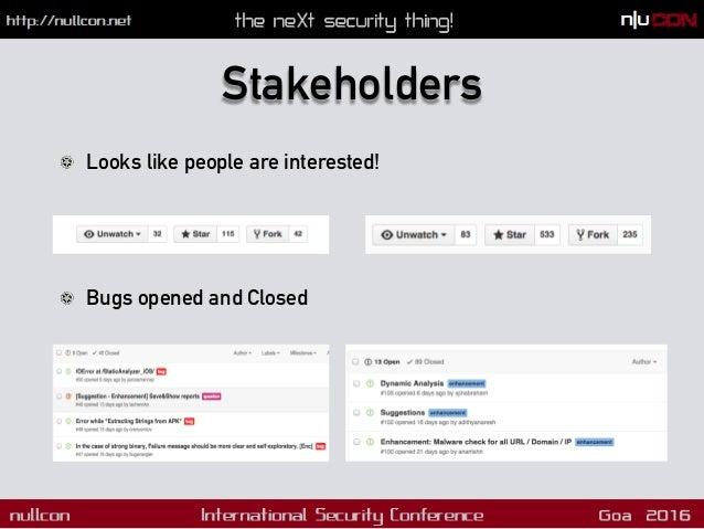 Useful Links !  Source: https://github.com/ajinabraham/Mobile-Security-Framework !  Issues: https://github.com/ajinabrah...
