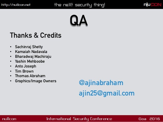 Nullcon Goa 2016 - Automated Mobile Application Security Testing with Mobile Security Framework (MobSF)