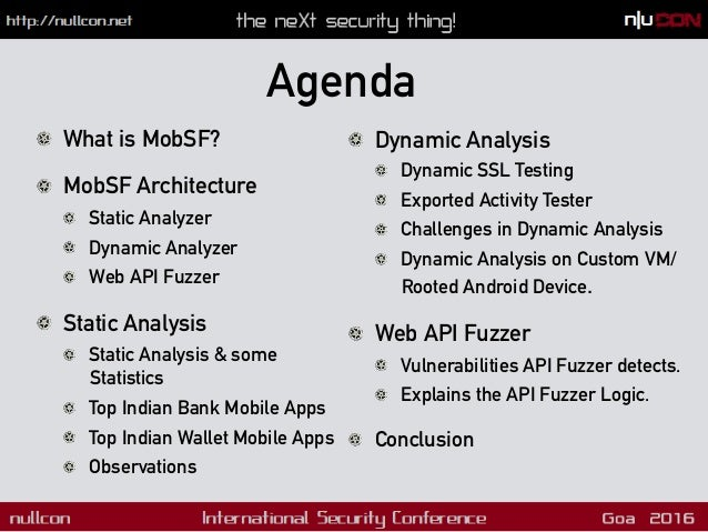 What is MobSF? Mobile Security Framework is an open source mobile application (Android/iOS) automated pentesting framework...