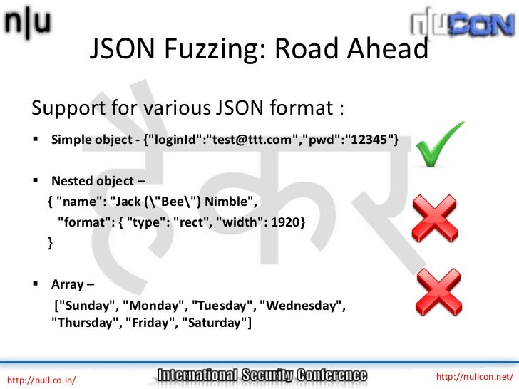 JSON Fuzzing: New approach to old problems