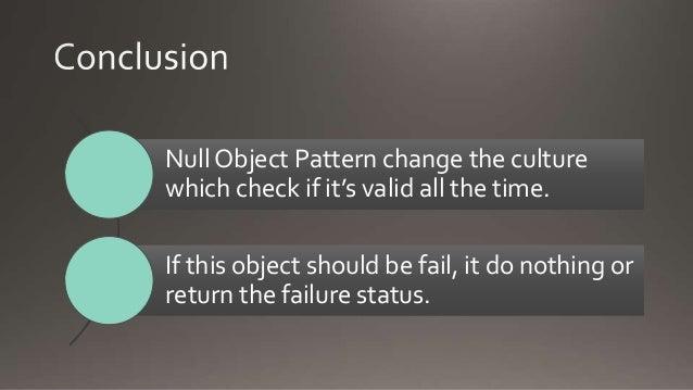 Null object pattern