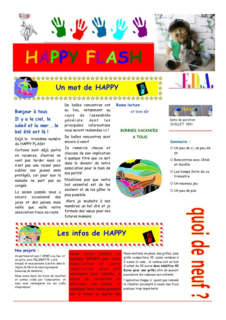 HAPPY FLASH                                 Un mot de HAPPY                                        De belles rencontres on...