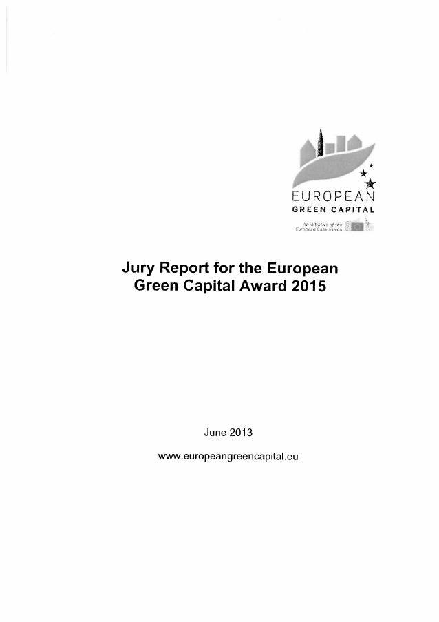 Le rapport des experts appelés à statuer sur la candidature de Bruxelles au titre de ville verte européenne 2015