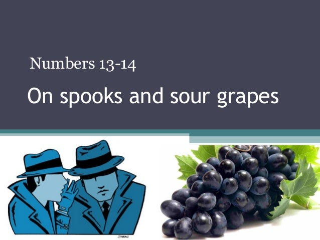 On spooks and sour grapesNumbers 13-14