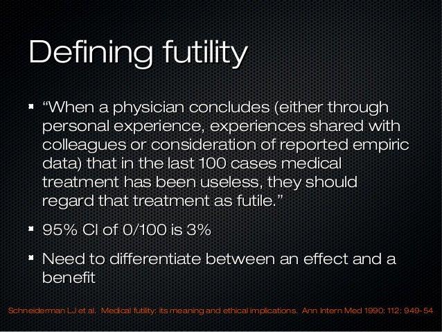 Essay on medical futility