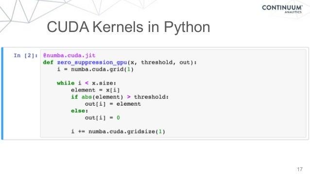 17 CUDA Kernels in Python