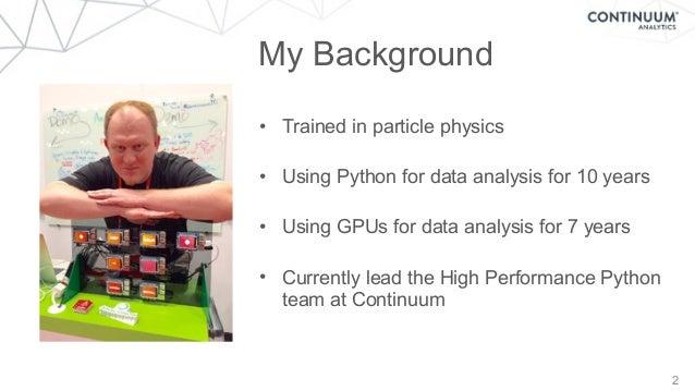 GPU Computing with Apache Spark and Python Slide 2