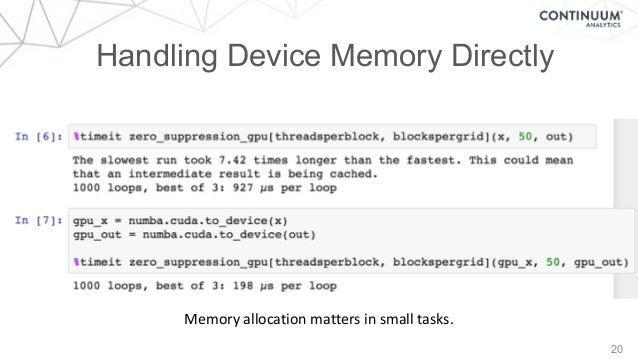20 Handling Device Memory Directly Memoryallocationmattersinsmalltasks.