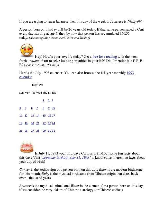 Number and birthday meaning