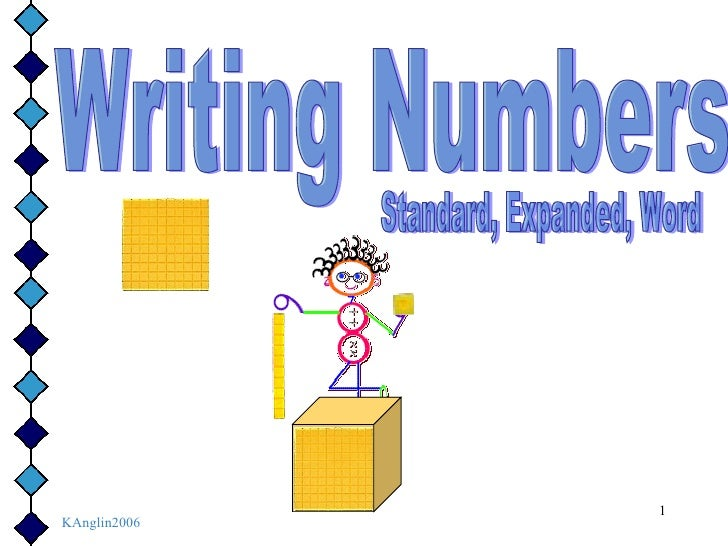 Writing Numbers Standard, Expanded, Word KAnglin2006