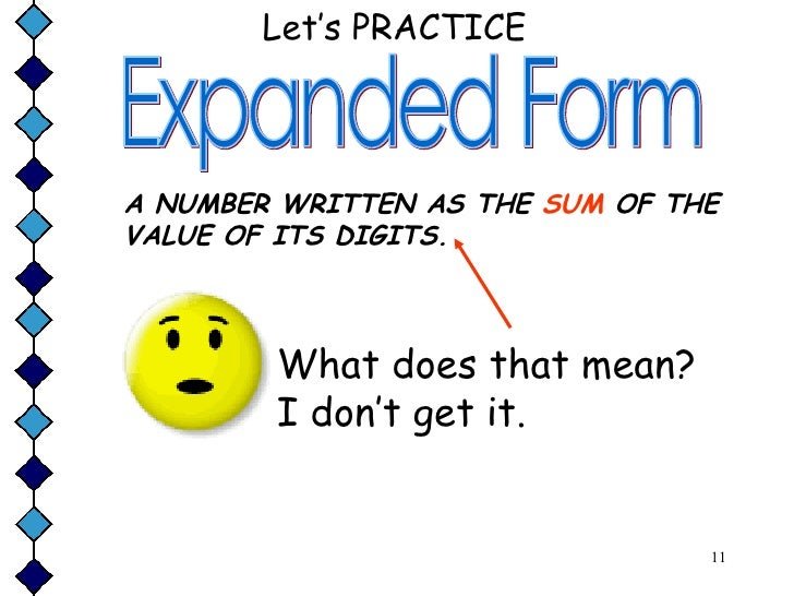 Forms Of The Numbers