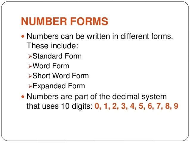 Grade 6 Mathematics Number Forms