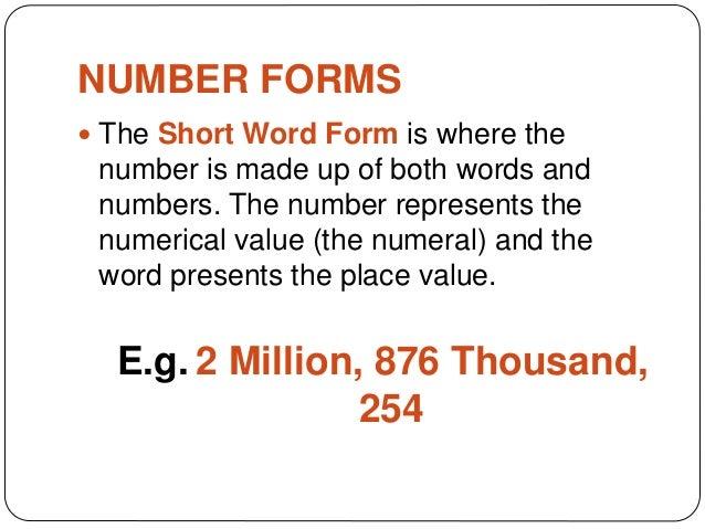 Grade 6 Mathematics: Number Forms