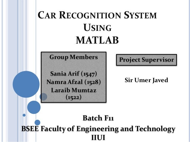 Number plate recognition system using matlab