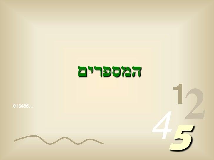 המספרים                      1 …654310                         54                       2