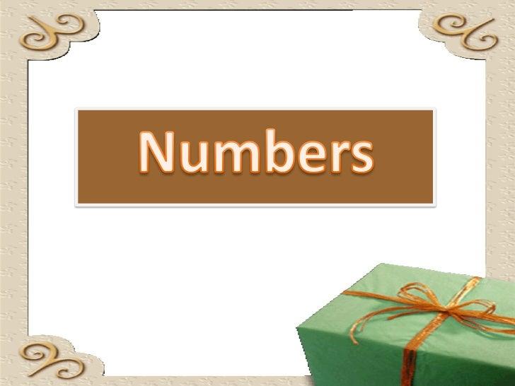 การเขียนและการอ่านตัวเลข             ตัวเลขในภาษาอังกฤษมี 2 ชนิด คือ     • Cardinal number ซึ่งแสดงถึงจานวน ได้แก่ เลข 1, ...