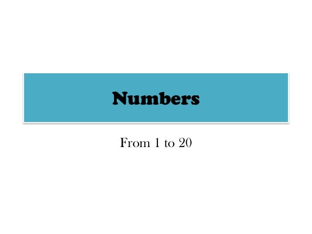 Numbers From 1 to 20