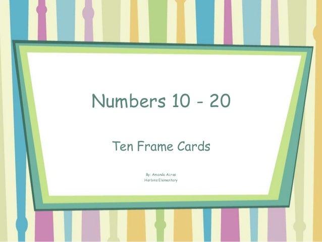 Numbers 10 20 Ten Frame Powerpoint