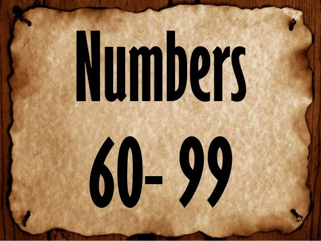 Numbers 60- 99